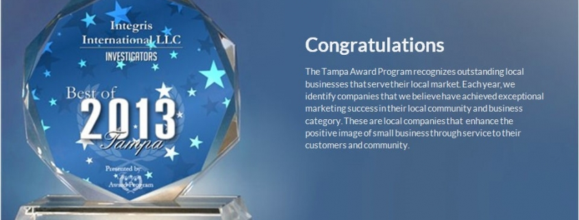 2013 Best of Tampa Award